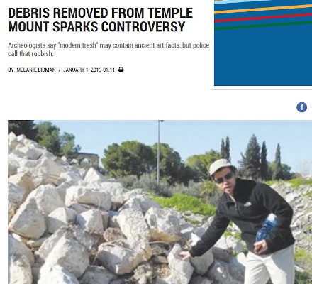 News Item - Debris removed from Temple Mount sparks controversy