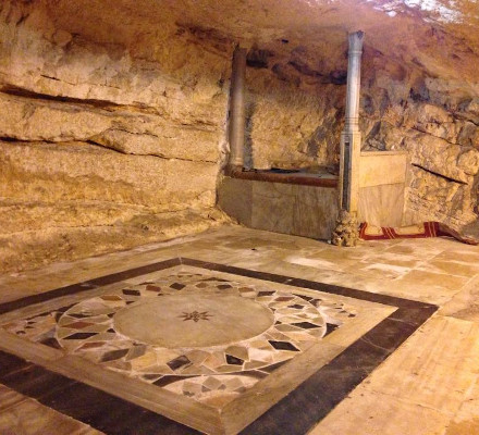 Opus Sectile floor revealed under a carpet on the Dome of the Rock