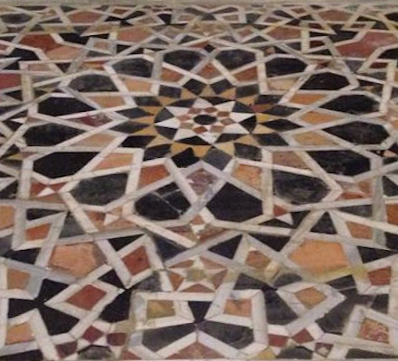 Opus sectile floor on the Temple Mount