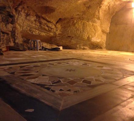 רצפה עשויה אופוס סקטילה שנחשפה הבר הבית