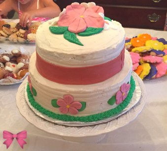 Floral birthday cake - Taylor Made Sweets and Treats