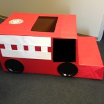 Diy Cardboard Firetruck Movers Who Blog In Montgomery County Tx