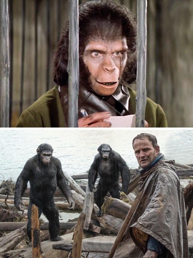"""""""سیاره میمون"""" 1968 و 2014"""