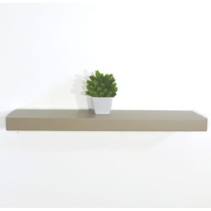 etagere murale a fixations invisibles 100 cm cappuccino