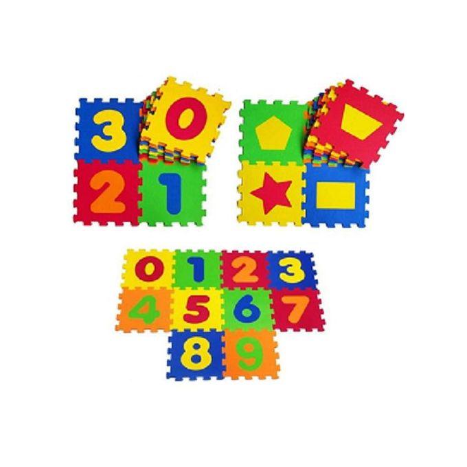 tapis puzzle chiffres formes geometriques 20 pcs 33 33 epaisseur 10 mm