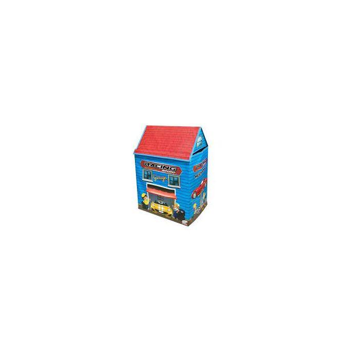maison de jeux et de rangement pour jouets 2 en 1 garage de voiture