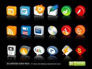3D Cartoon Icons Pack 1