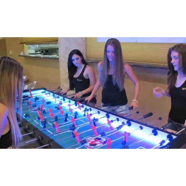 8 Player LED Foosball Table Rentals