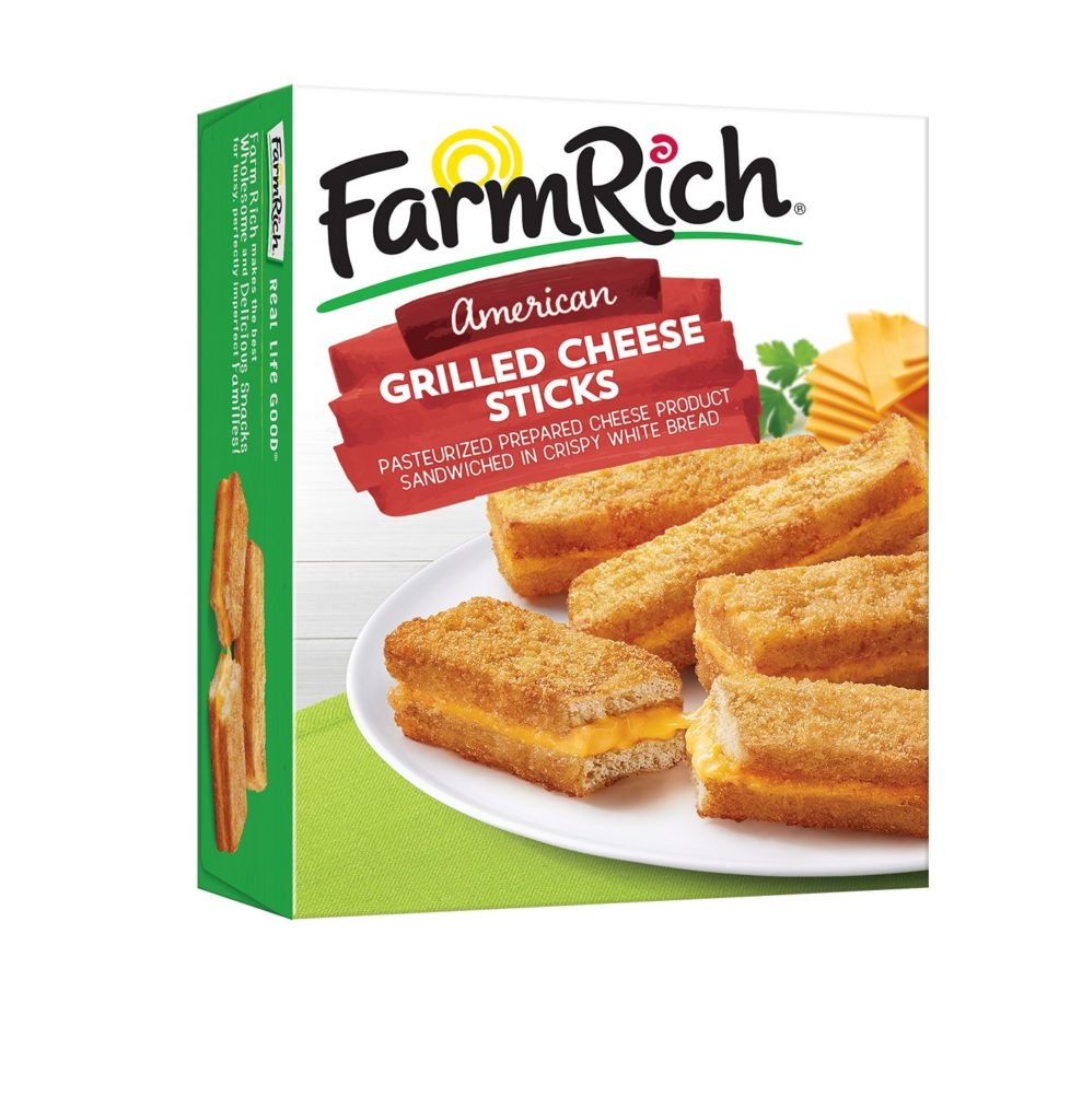 Farm Rich Launches Grilled Cheese Sticks, Sweet Onion Jam Meatballs with Bacon, More