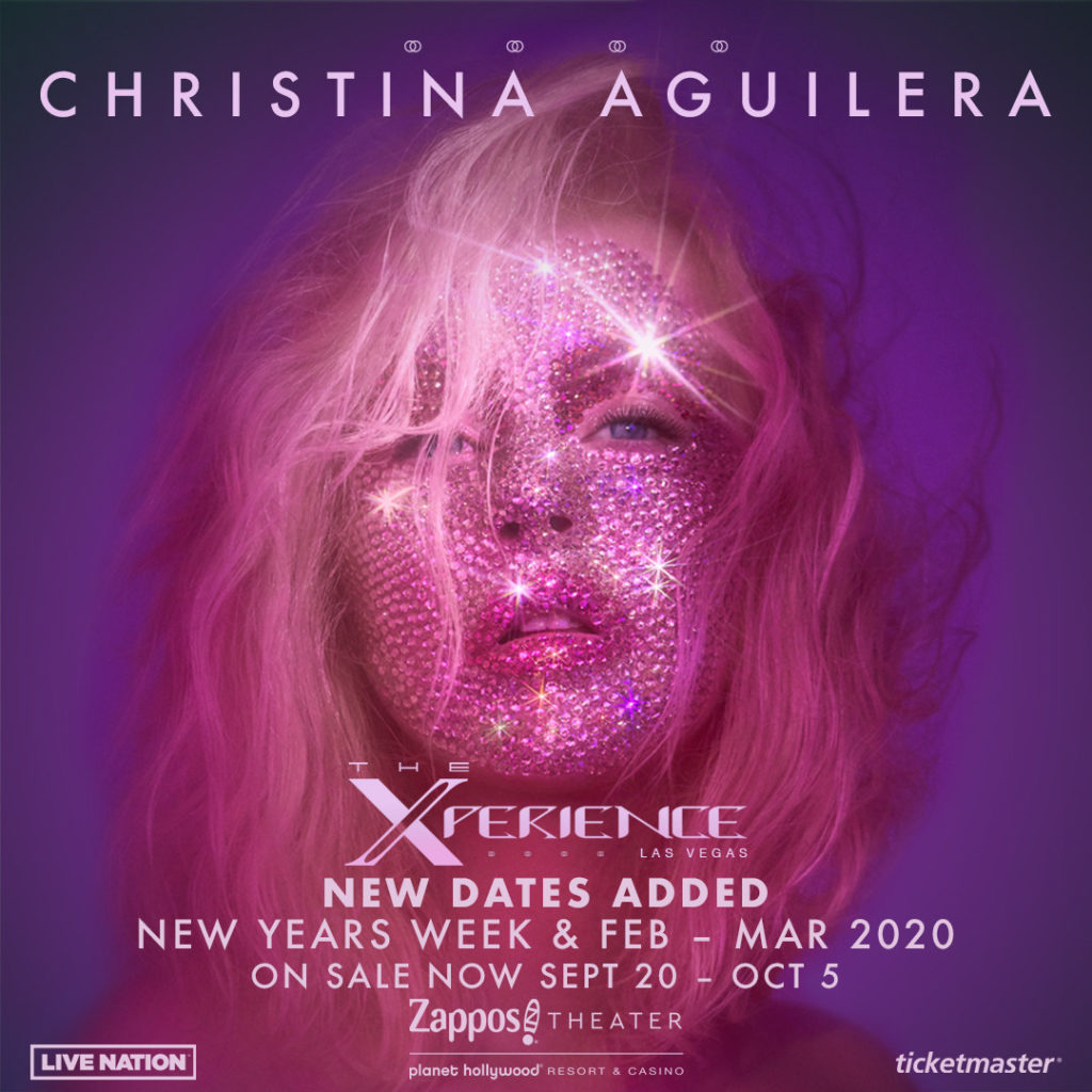 Ten Additional Dates For Christina Aguilera: The Xperience