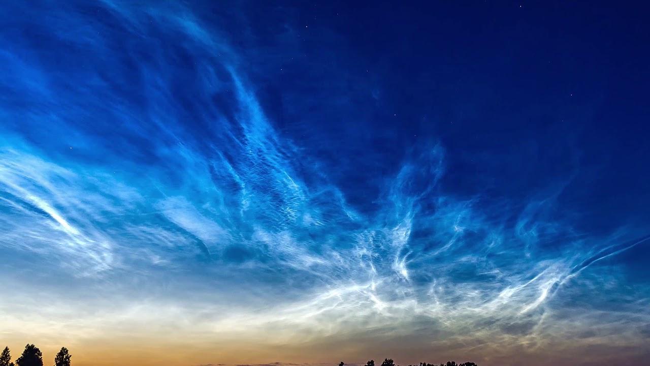 Electric-Blue Clouds