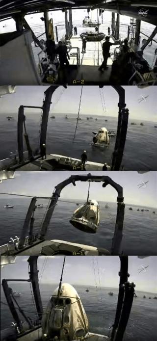 NASA Astronauts Safely Splash Down