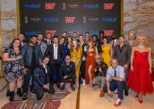 The Cast and Creative Team of MAGIC MIKE LIVE Las Vegas Poses on the Red Carpet During Opening Night at SAHARA Las Vegas, Sept. 25, 2021