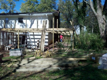 framing the new deck