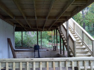 underneath the deck