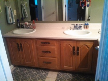 old vanity before picture