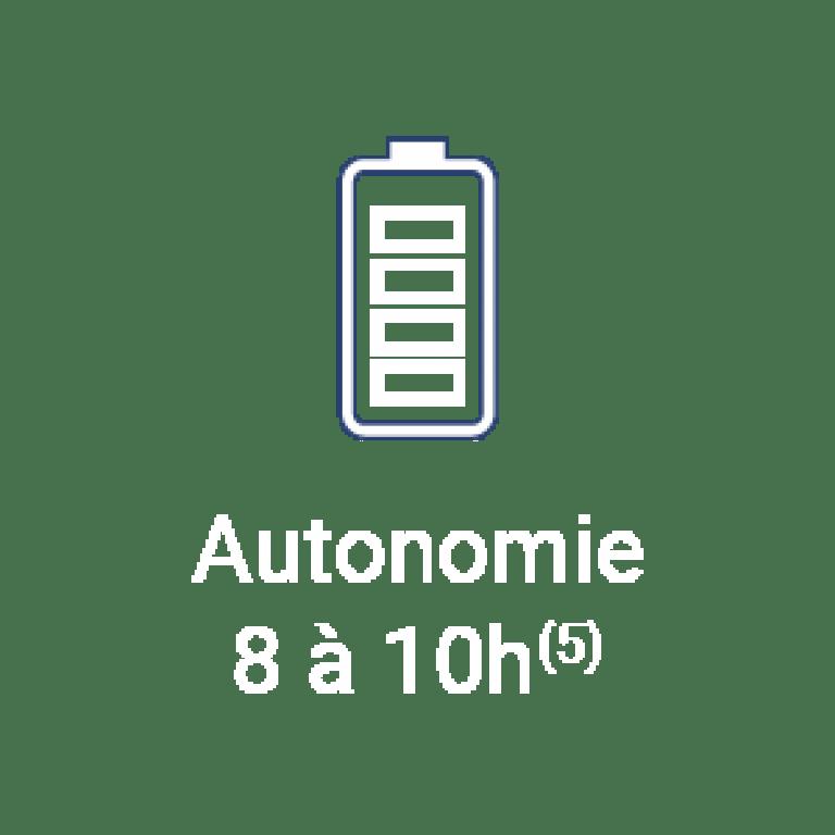La tablette SQOOL bénéficie d'une autonomie de 8 à 10h