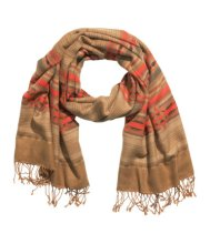 H&M Jacquard Weave Scarf with Fringe Detail