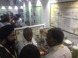 Mr.Gagandeep Singh Bedi IAS and Honble Minister for Agriculture at Consortium stall