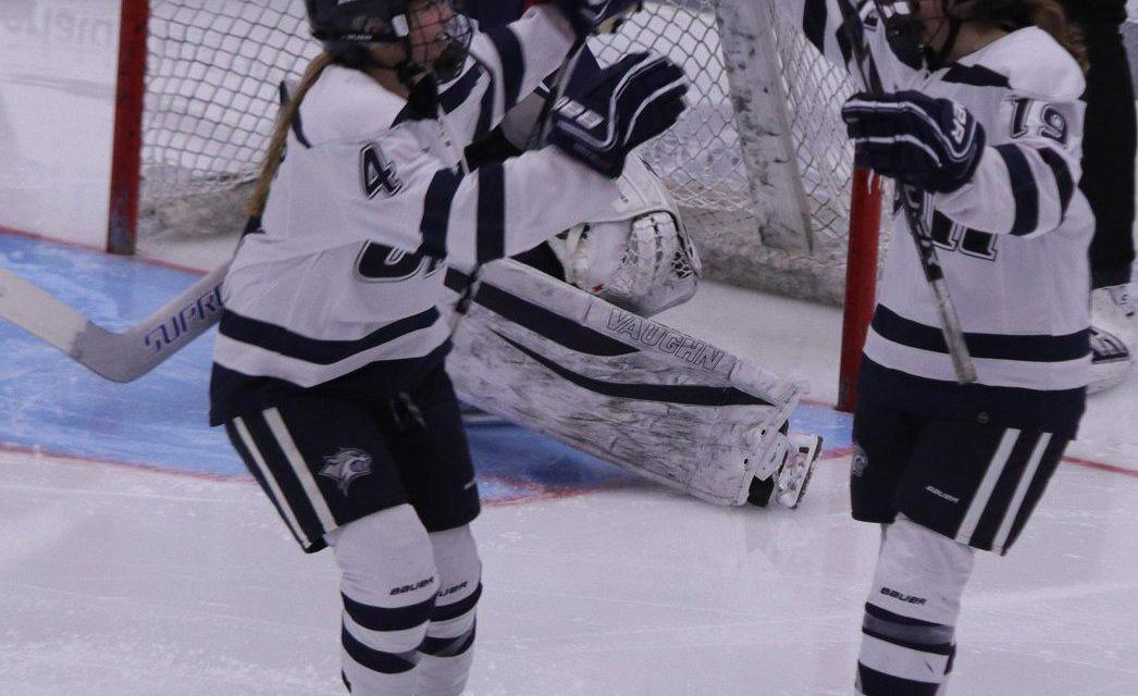 Women's Ice Hockey ties RPI 1-1 and wins 4-1 in double header