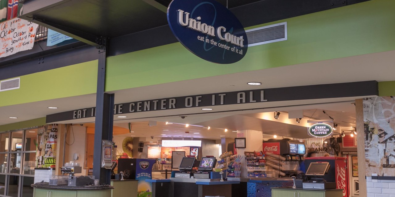 Union Court's mix of live music and bustling student life
