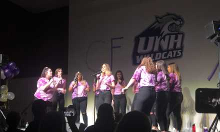 """UNH a capella groups sing to """"Fight cystic fibrosis like a wildcat"""""""