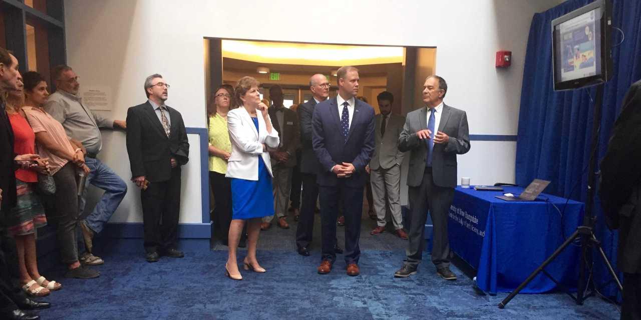 NASA Administrator and Senator Shaheen visit campus