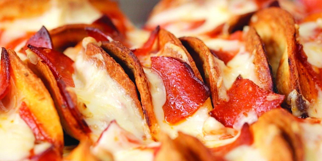 Mini pizza tacos to bring the house down
