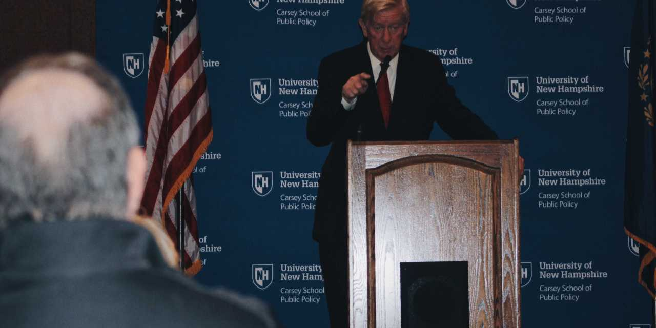 Weld talk marks first 2020 GOP appearance at UNH
