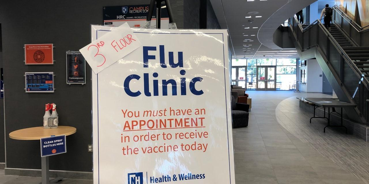 UNH offers flu vaccinations by appointment