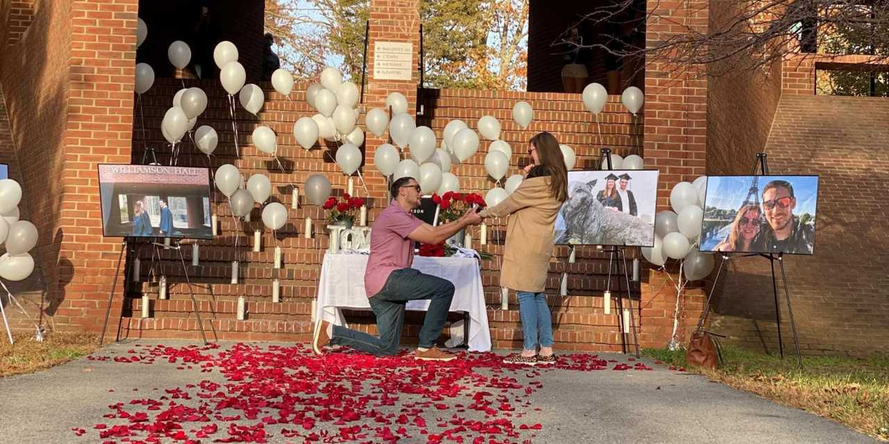 UNH alum get engaged on footsteps of Williamson Hall