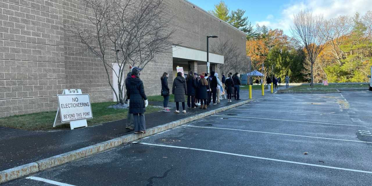 University of New Hampshire voters show up to the polls on Election Day