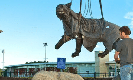 Wildcat statue celebrating its 15th anniversary