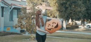 Dumb idiot with a stupid pumpkin