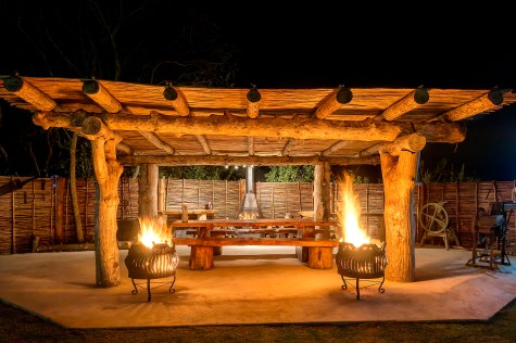 romantic barbecue braai fireplace