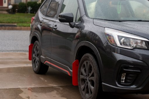 2019 Forester T N M F mudflap passenger close
