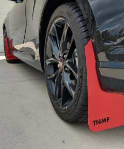 T N M F second gen Hyundai Veloster mudflaps rear driver view