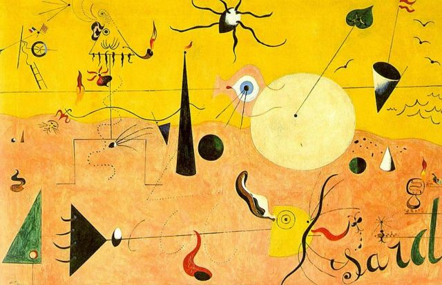 Painting by Joan Miró: Catalan Landscape reflecting the complexities of WordPress maintenance.