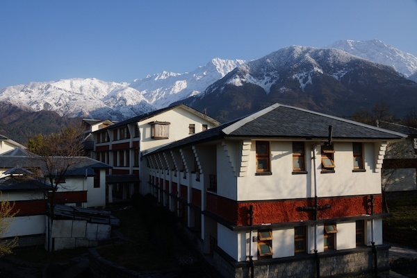 view of Dolma Ling Nunnery near Dhamarsala India