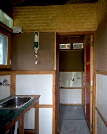 inside Buddhist retreat hut for nuns photo J OConnor