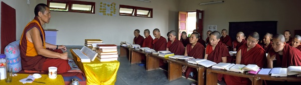 Tibetan monk teaching the nuns low res Brian Harris Tibetan Nuns Project