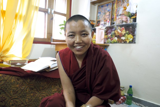 Venerable Delek Wangmo smiling