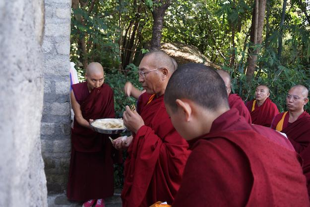 Dagri Rinpoche inuagurates retreat huts Nov 10 2014