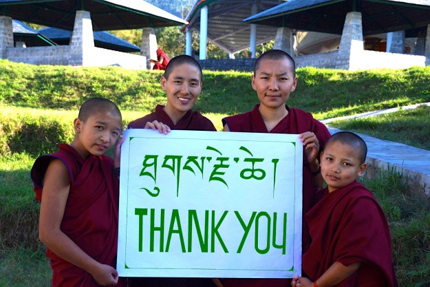 Tibetan nuns, thank you message, Tibetan Nuns Project, Dolma Ling nuns