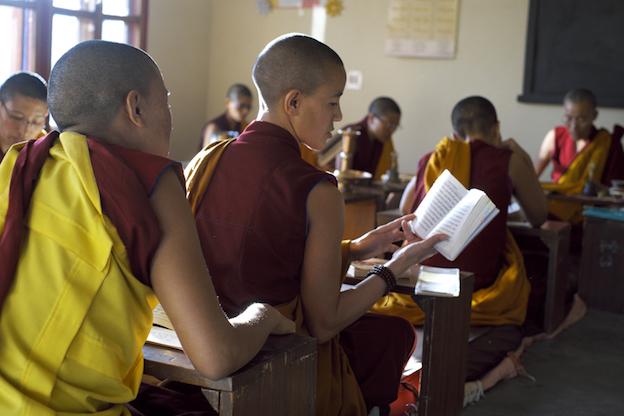 Tibetan nuns, Buddhist nuns, Tibetan Nuns Project, Dolma Ling. puja