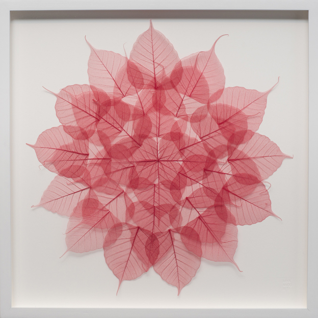 Miya Ando, bodhi leaf, meditation mandala, Tibetan Nuns Project, Paddle8 Auction