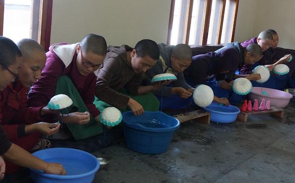 Tibetan butter sculptures, Tibetan nuns, Buddhist nuns, Tibetan Buddhism, Tibetan Nuns Project, nuns, Dolma Ling Nunnery