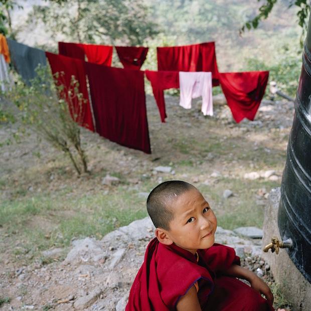 young Tibetan Buddhist nun