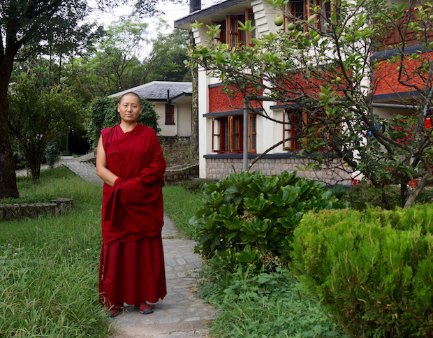 portrait of Tibetan Buddhist nun Tenzin Kunsel