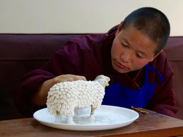 Tibetan butter sculpture sheep or ram